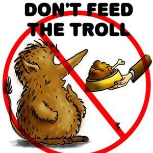 no alimentes al troll (para los no angloentendientes)