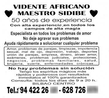 Maestro Sidibe, un profesional de la videncia con 50 años de experiencia!!!