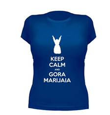 camiseta Keep Calm and Gora Marijaia, Gora Aste Nagusia!
